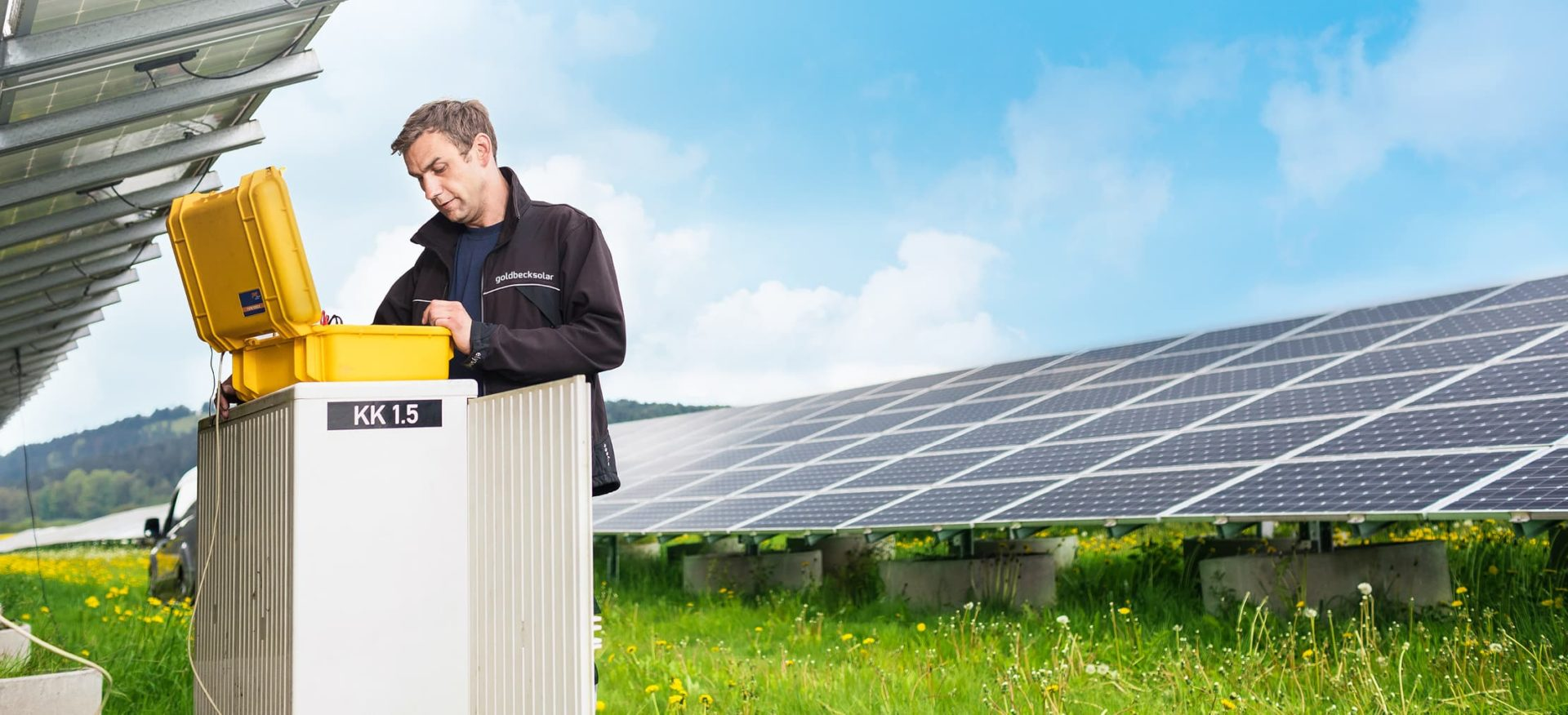 Betrieb und Wartung einer großen Solaranlagen von GOLDBECK SOLAR