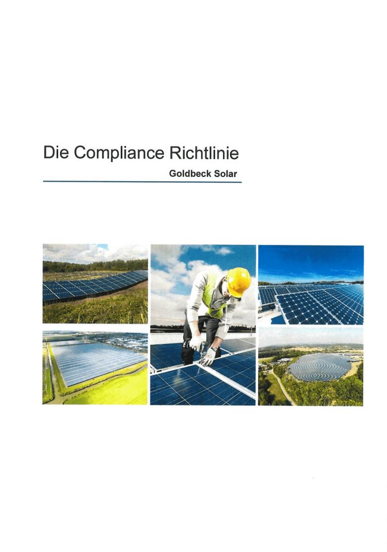 Das Titelbild der Compliance Richtlinie