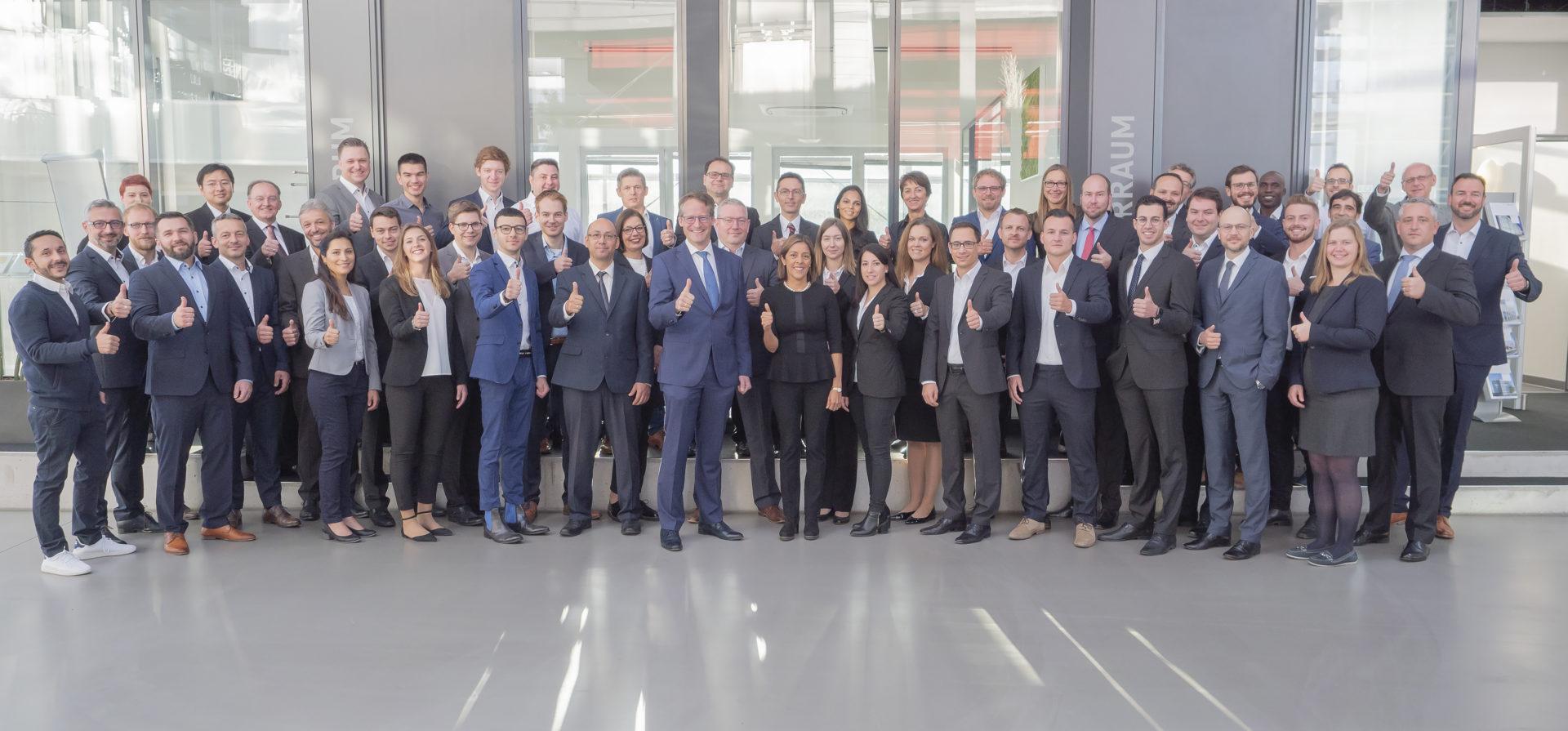 Ein Foto des gesamten Goldbeck-Solar-Teams