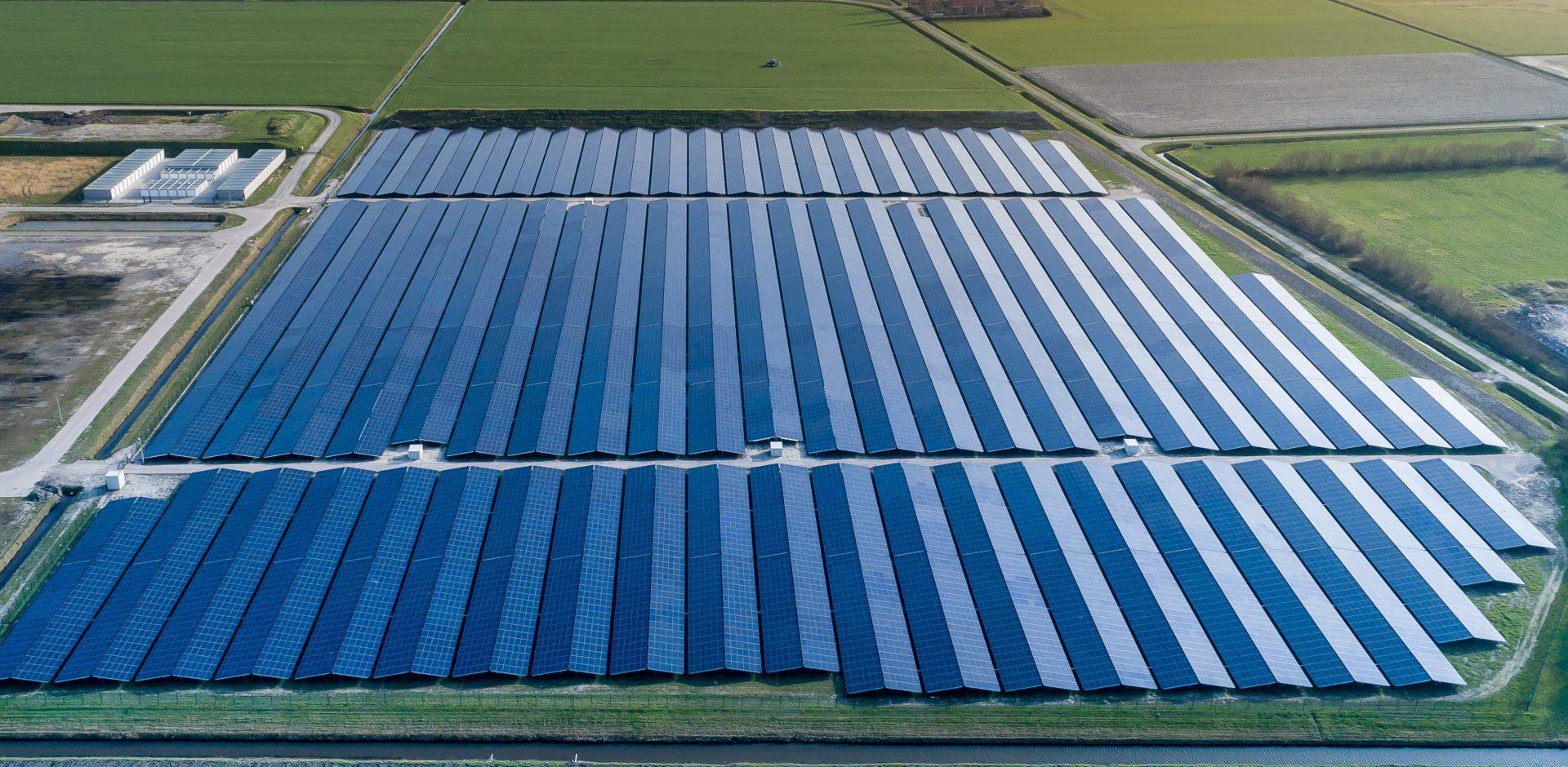 Solar park with East-West orientation