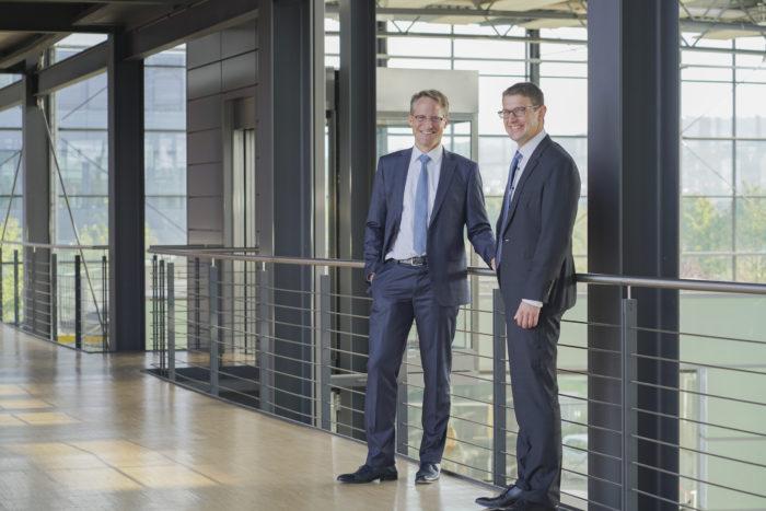 Joachim Goldbeck und Tobias Schüssler Geschäftsführer GOLDBECK SOLAR
