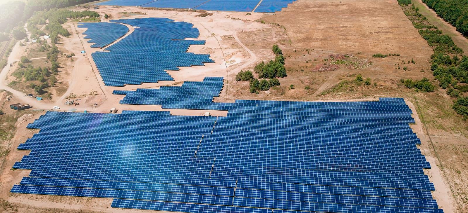 Luftbild Solarpark, Domsühl in Deutschland