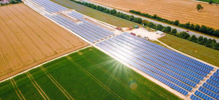 Luftbild Solarpark, Wolpertshausen, Deutschland