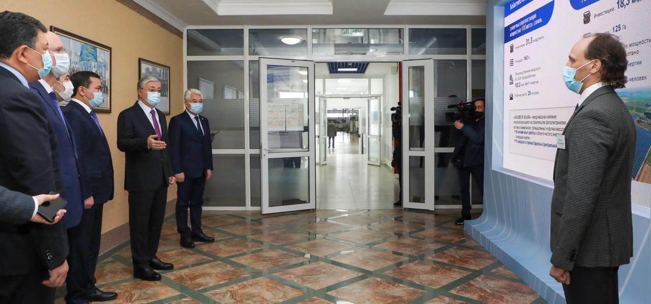 Treffen mit dem Präsidenten Kasachstans
