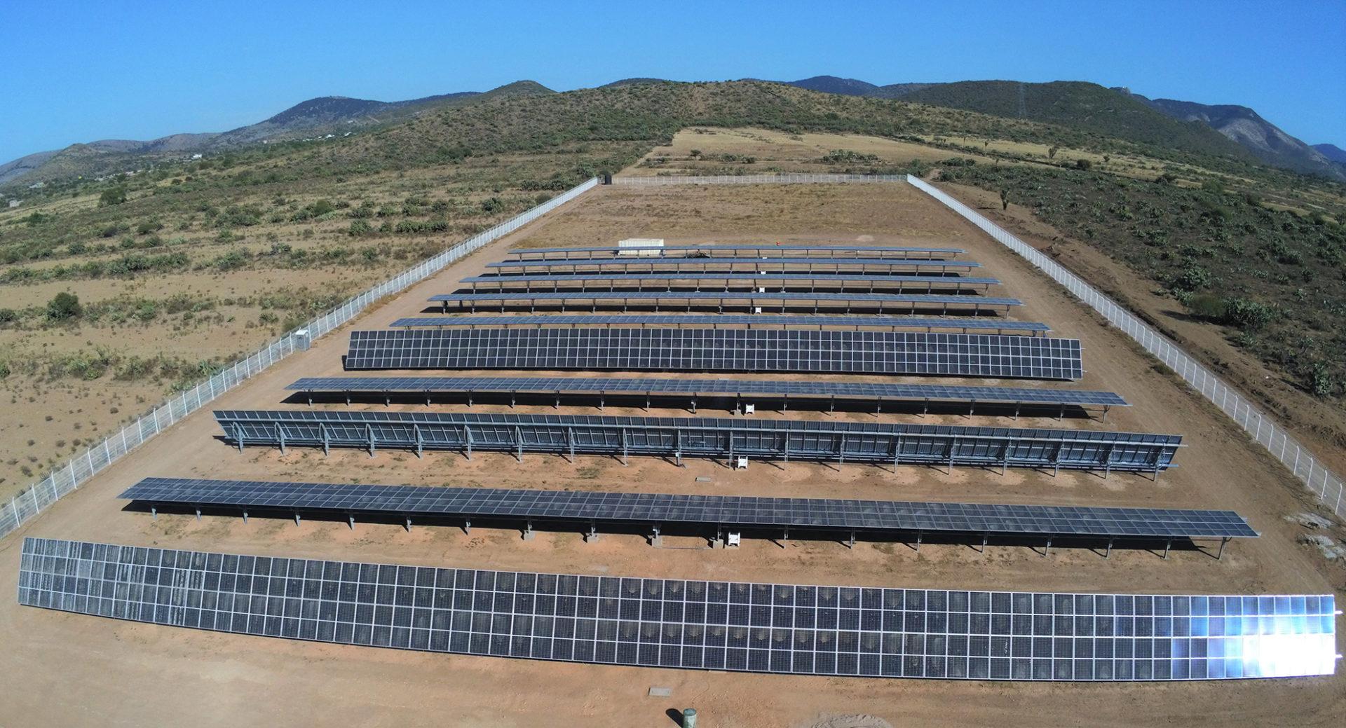 Die Solaranlage Autodromo in Mexiko, San Luis Potosi