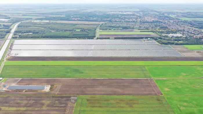 Solarprojekt Stadskanaal - Luftaufnahme