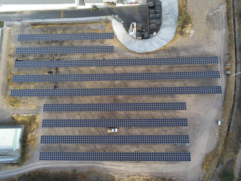 Luftansicht Solarpark Mann+Hummel, Mexiko