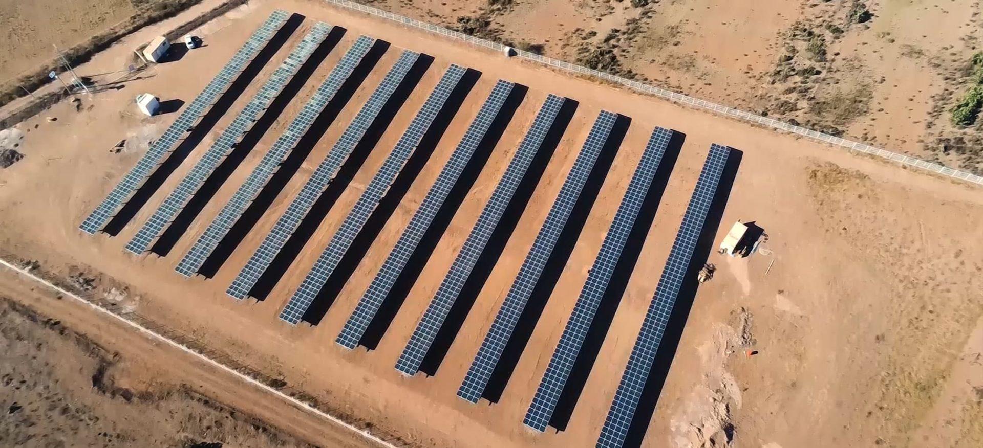 Luftansicht des Solarparks Autodromo 1