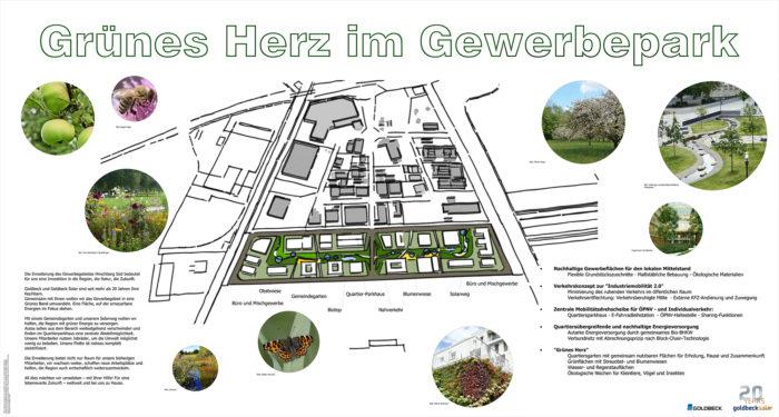 Illustration der möglichen Erweiterung des Gewerbegebiets Hirschberg Süd