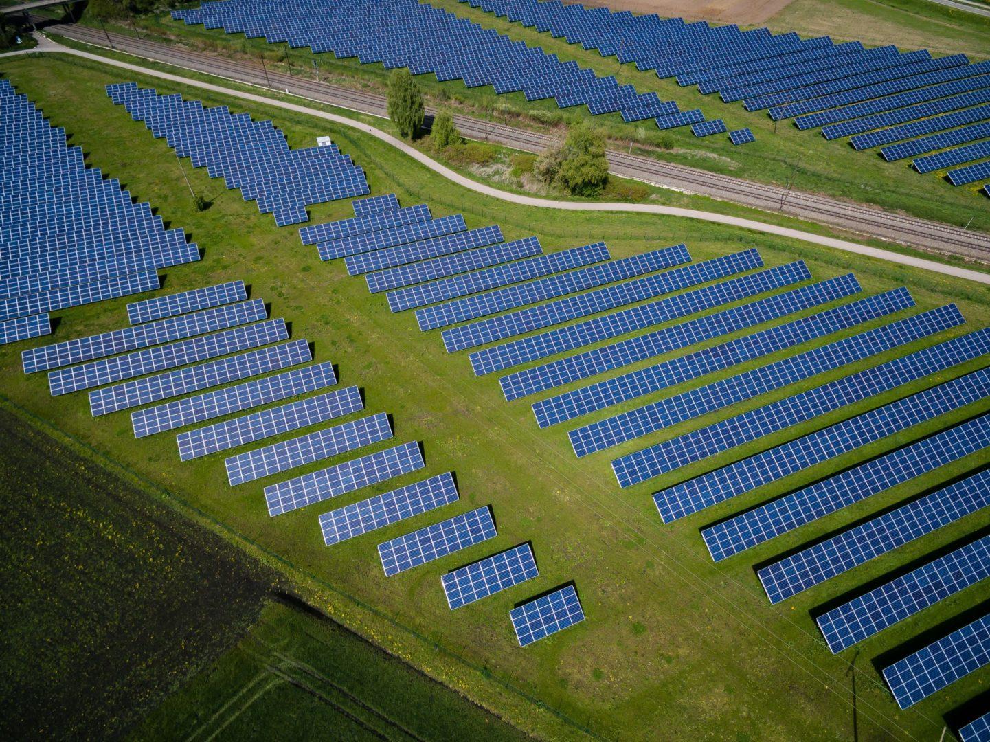 Luftbildaufnahme Solarpark XY